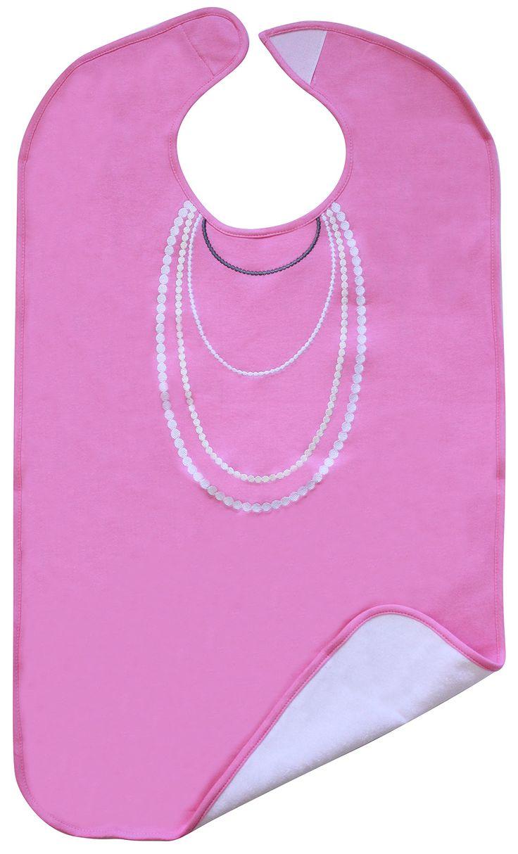 White ruffle apron amazon - Amazon Com Ladies Adult Bib Pink With White Pearl Embroidery Frenchie Mini