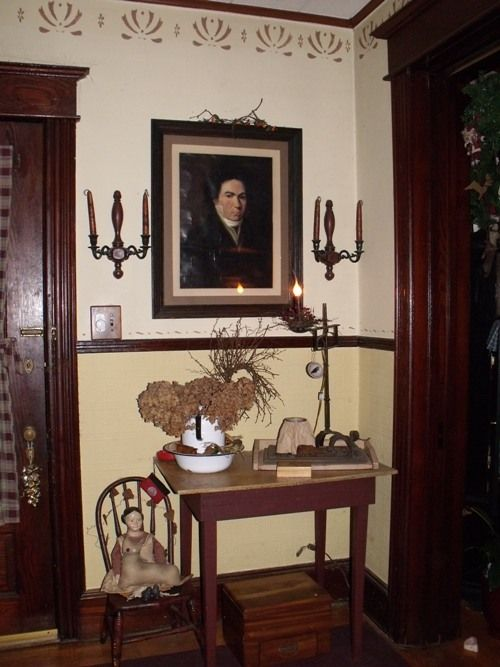 Love Colonial And Primitive Stenciling For The Home