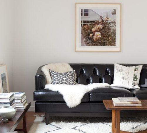 Victoria S Souk Rug: 1000+ Ideas About Black Leather Sofas On Pinterest