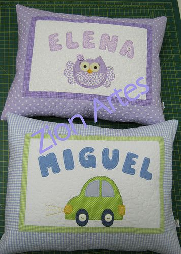 almofadas personalizadasAlmofadas Personalizadas, For Experiment, Infantil Patchwork, Project To, Coixicoixin Nom