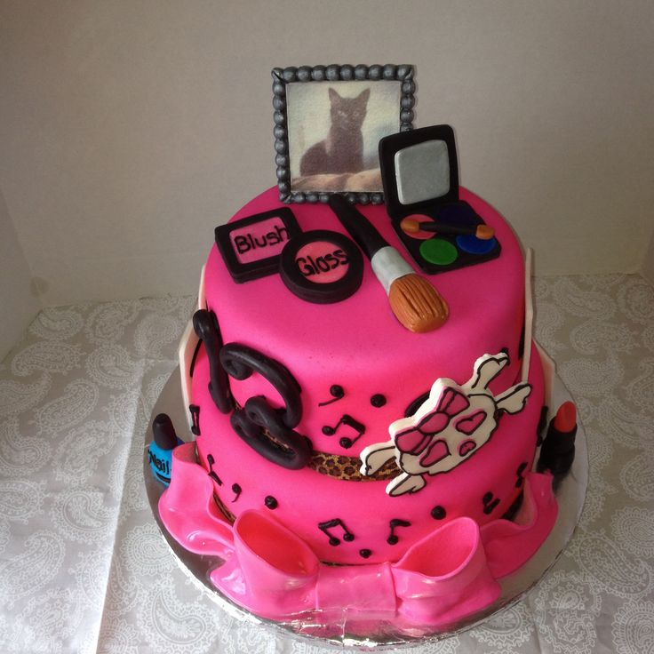 Teenage Girl Cake Images : Teenage girl s favorite things birthday cake Cakes I ve ...