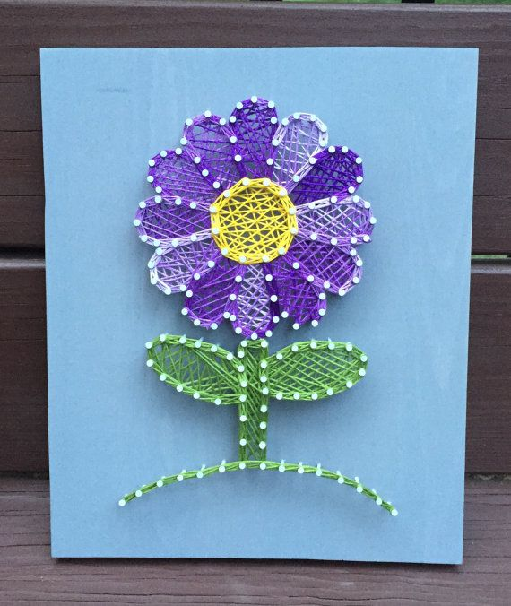 Perfect Flower String Art by RhapsodyCrafts on Etsy