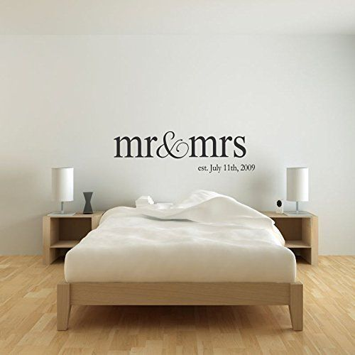 Mr & Mrs Wall Hanging Decor Set, Artwork for Wall Home Decor Over Headboard, Bedroom Newlywed Gift for Bride and Groom Wedding Gift KING Size (Item - MMW100 K)