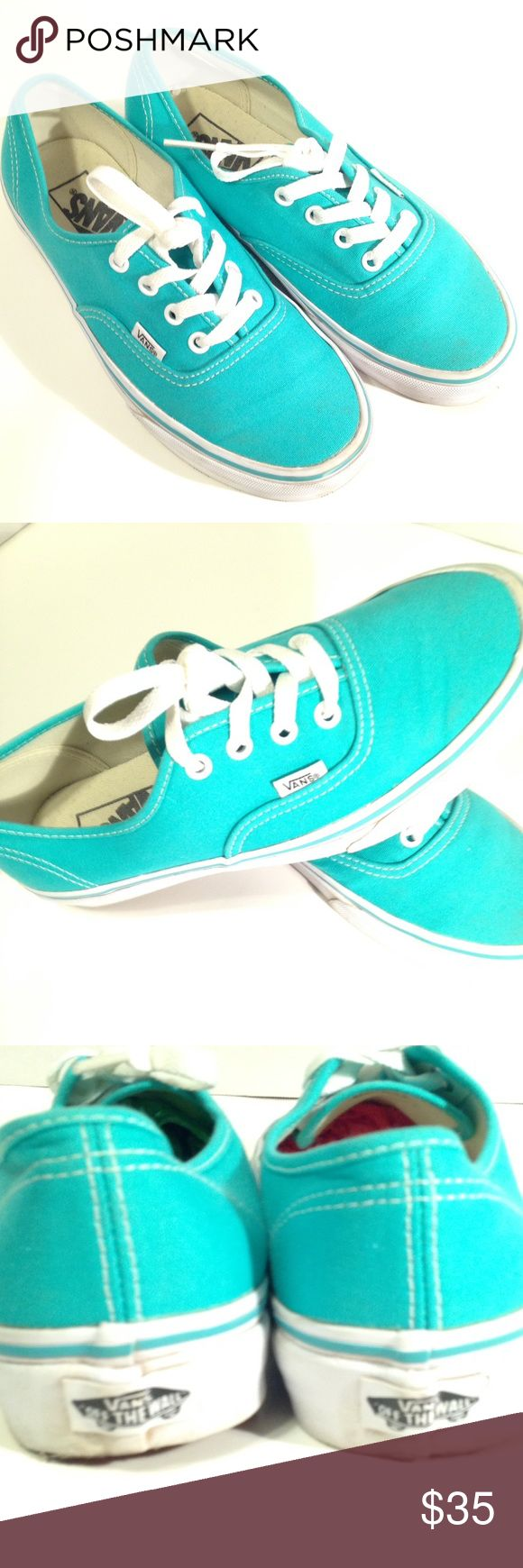 Mint green VANS. Size In excellence used condition. Only worn once because they are a bit too big on me. Mint green. Thank you for visiting my closet! Vans Shoes Sneakers