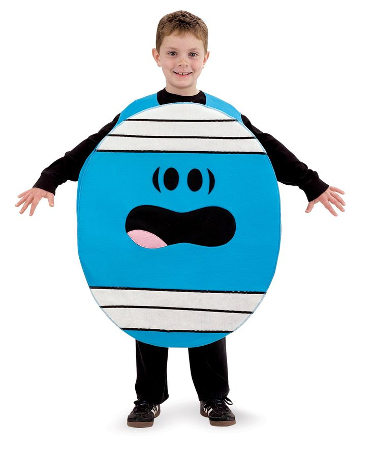"Mr Men and Little Miss Mr Bump Child Medium Costume (made of polyester, each pack includes a one-piece pullover; measures up to 52"" high and up to 28"" around the waist)"