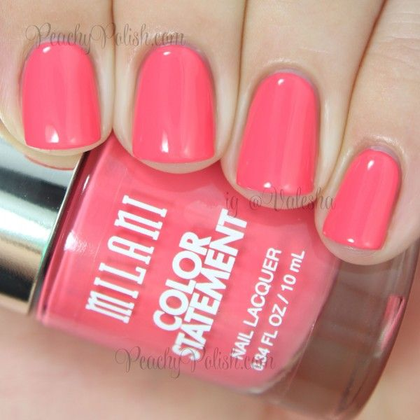 Milani: Color Statement Nail Lacquer Collection Swatches & Review - Peachy Polish