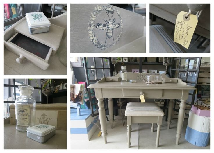Painted in French Linen, Dressing or writing table at The Plough Shed          Address: Dirkie Uys Street Hermanus Tel: 0832679432 Email: theploughshed1@gmail.com