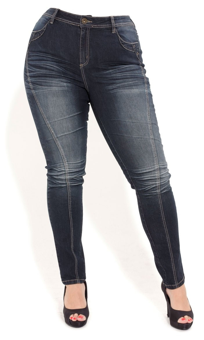 Plus Size Rocker Skinny Jeans - City Chic - City Chic.