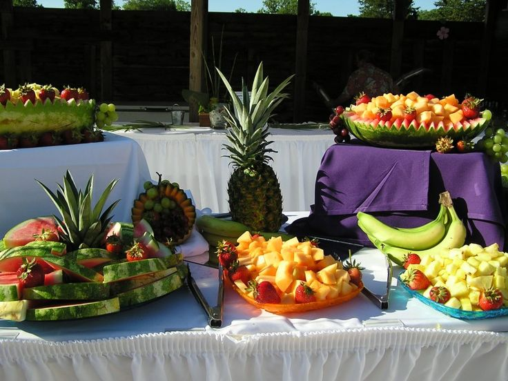 Wedding Reception Food Trays | Luau Wedding Reception