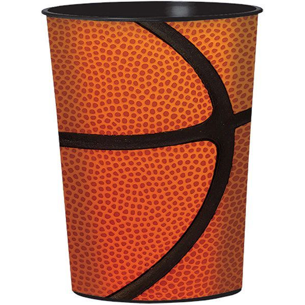 Check out Basketball 16oz Plastic Favor Cup (Each) | Basketball Decorations and Tableware at Wholesale Party Supplies from Wholesale Party Supplies