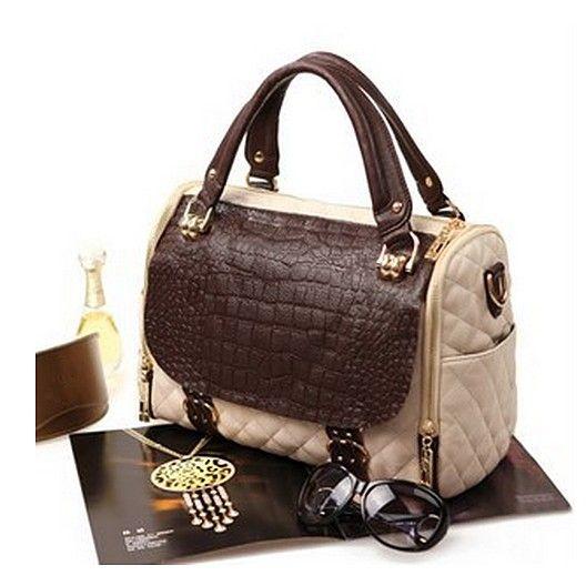Stylish retro contrast handbag
