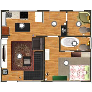 Copy Of Losam5 House In Living Room Family Bedroom Bathroom Kitchen