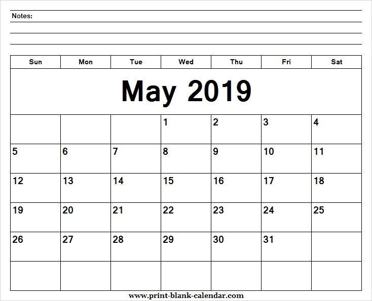 May 2019 Calendar Activities for Kids Printblank Pinterest