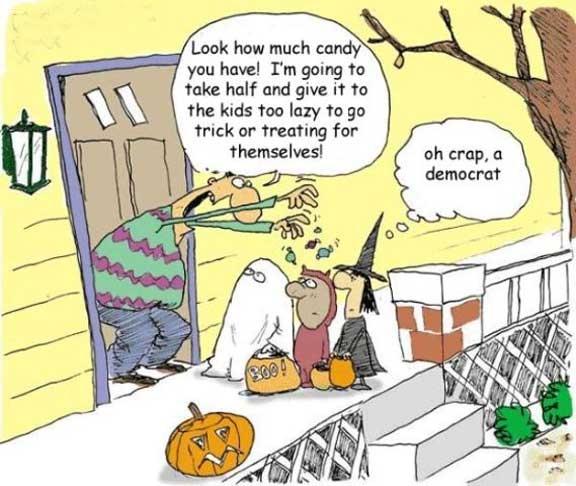 trick 'r treater's worse nightmare - a democrat, haha