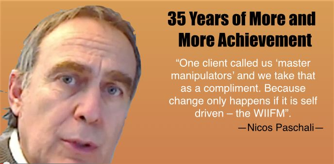 """One client called us 'master manipulators' and we take that as a compliment. Because change only happens if it is self driven – the WIIFM""."