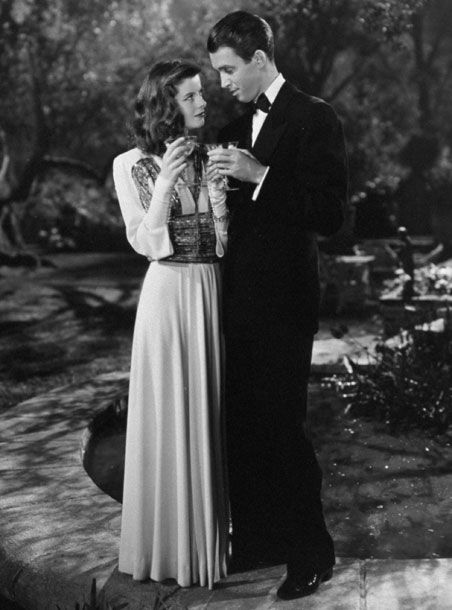Katharine Hepburn and Jimmy Stewart in The Philadelphia Story One of my favorite classic films...