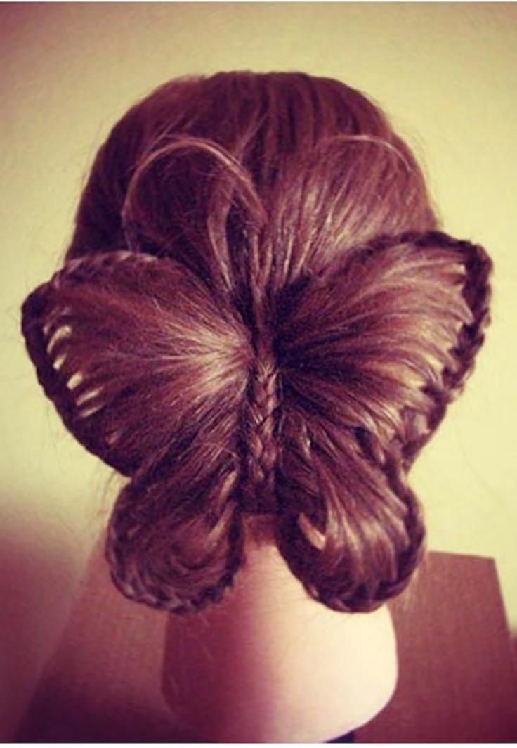 Fun Butterfly Braid tutorial. Cute hairstyles for little