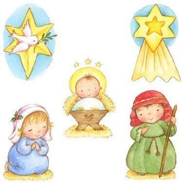 Dibujo del nacimiento de Jesús para imprimir gratis. Crea tu propio belén.