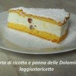 Torta+di+ricotta+e+panna+delle+Dolomiti
