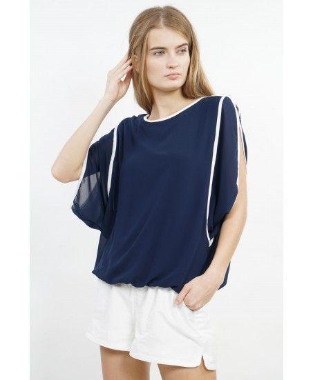 CHIFFON BLOUSE FLARE HAND - MINEOLA Online Shopping Fashion Indonesia