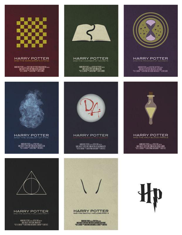 Minimalist Harry Potter movie posters: Harry Potter Posters, Harry Potter Series, Posters Series, Minimalist Movie Posters, Hp Posters, Graphics Posters, Minimalist Poster, Harry Potter Movies, Minimal Movie Posters