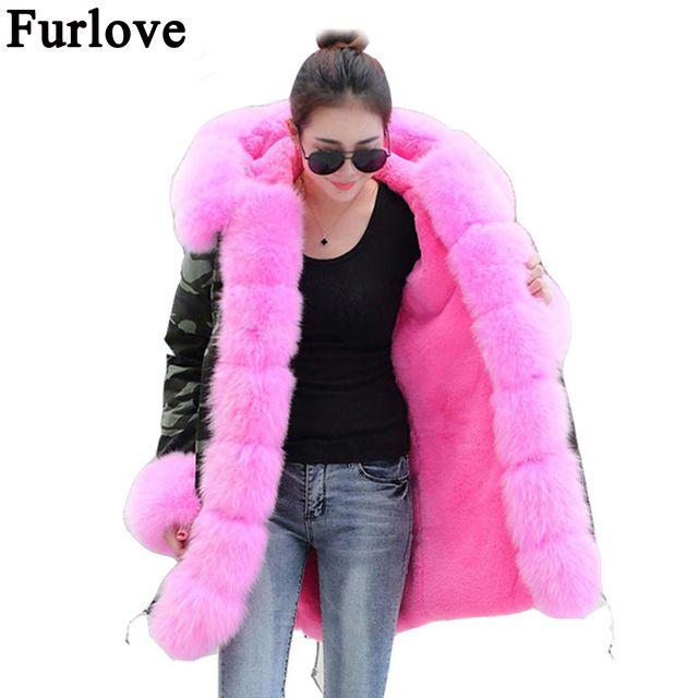 brand 2017 new long Camouflage winter jacket women outwear thick parkas natural real fox fur collar coat hooded pelliccia Jetzt bestellen unter: https://mode.ladendirekt.de/damen/bekleidung/jacken/winterjacken/?uid=d00400e6-924e-5573-a589-dd5029197979&utm_source=pinterest&utm_medium=pin&utm_campaign=boards #winterjacken #bekleidung #jacken