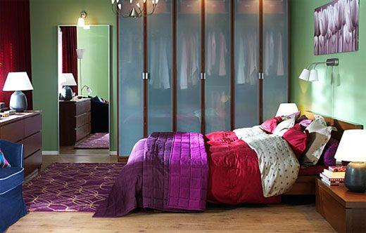 Top 20 bunte Schlafzimmer Design-Ideen