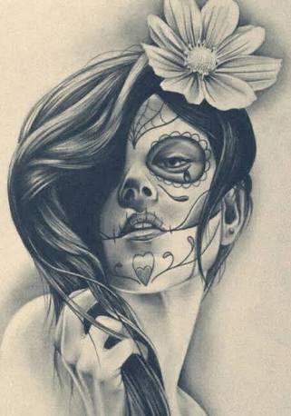 Resultado de imagem para catrina da morte tatuagem
