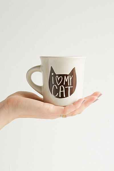 I Heart My Cat Mug - Urban Outfitters