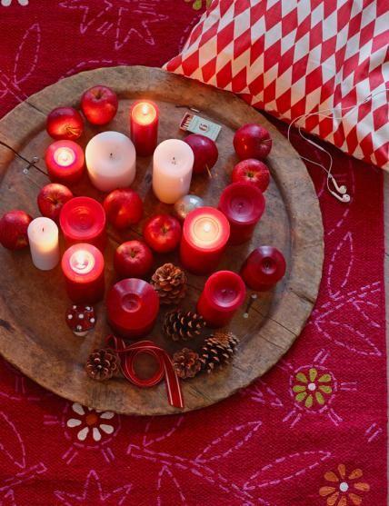 Schöne Kerzen für Weihnachten