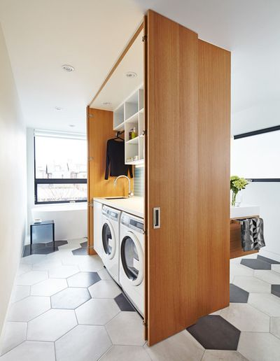 Contemporary Laundry Room by post Architecture