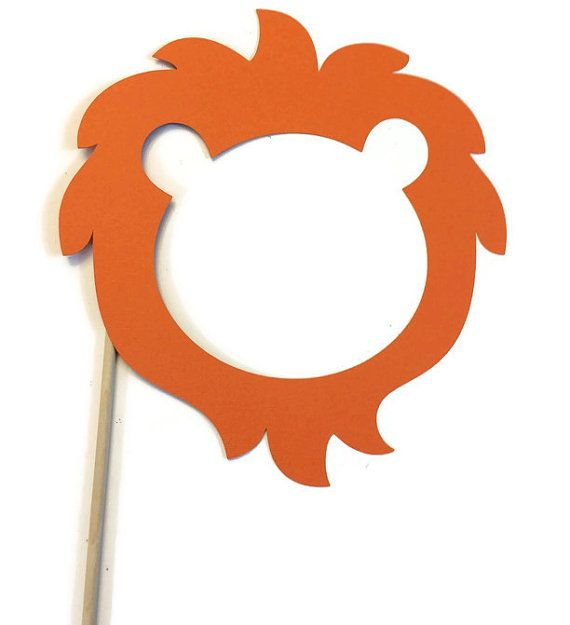 Photo Booth Props - Lion - Safari - Zoo - Circus Photo Booth