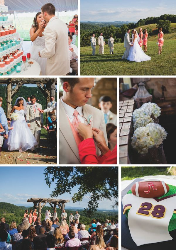 Rustic DIY wedding at Chateau Selah, photographed by Goodwin Photography @goodwinphotog | The Pink Bride www.thepinkbride.com