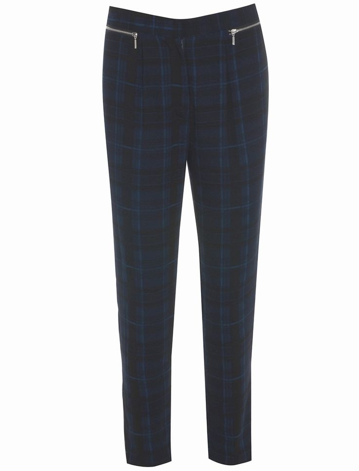 Neon Rose Clueless Check Tapered Trousers