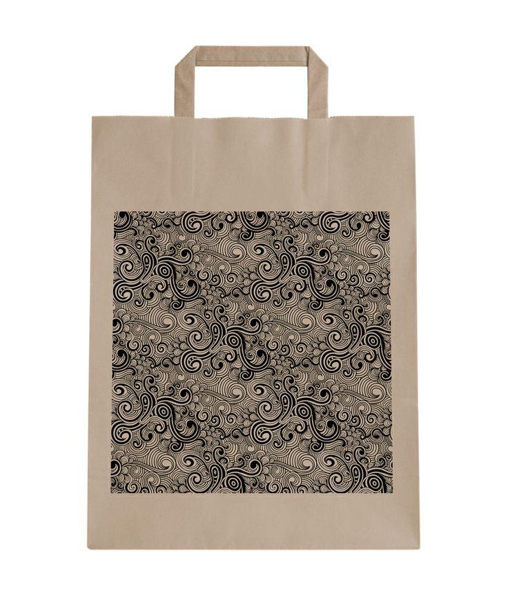 Bolsa asa plana color natural con diseño de Prismatika para Pag&Bag