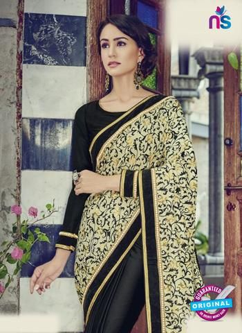AZ 5125 Black Georgette Party Wear Saree