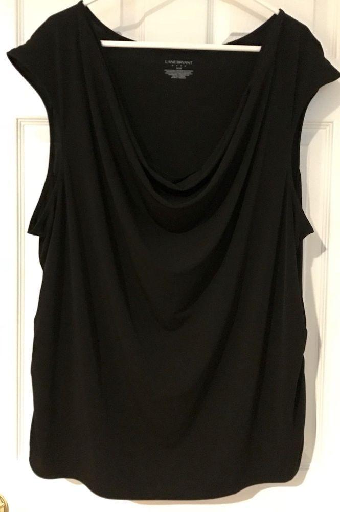 9fb924937c6 Lane Bryant Black Draped Rouched Top 26/28 Sleeveless Sexy Work /Evening  Shirt #LaneBryant #SleevelessTop #worktoevening