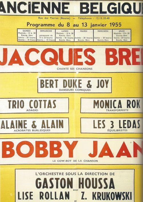 Affiche Jacques Brel en Bobbejaan Schoepen