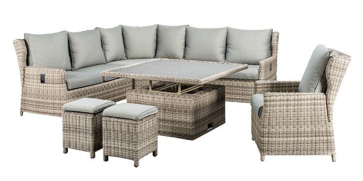 SUNS Almeria - Relax Lounge set - SUNS Blue Collection - 7 parts - Big Corner
