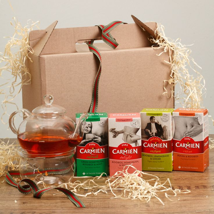 Carmien Wellness Hamper with glass teapot set