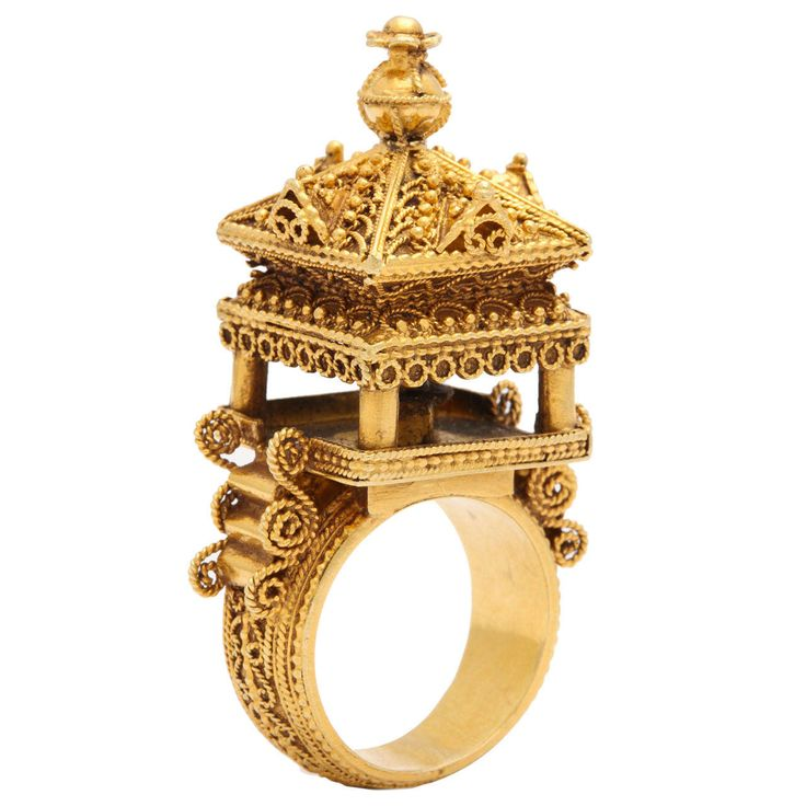 Gold Indian Temple Ring