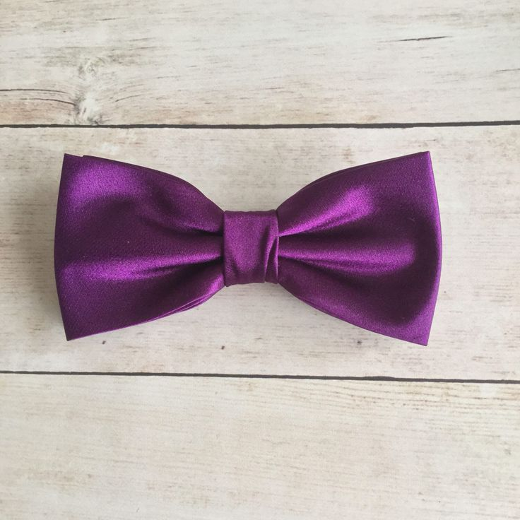 Byzantium Purple Bow Tie, Mens Bow Tie, Solid Satin Bow Tie, Bow Tie for Wedding, Plain Bowtie, Baby Boy Bow Tie, Baby bowtie, Kid Bow Tie by GloiberryBowtie on Etsy https://www.etsy.com/uk/listing/518075657/byzantium-purple-bow-tie-mens-bow-tie