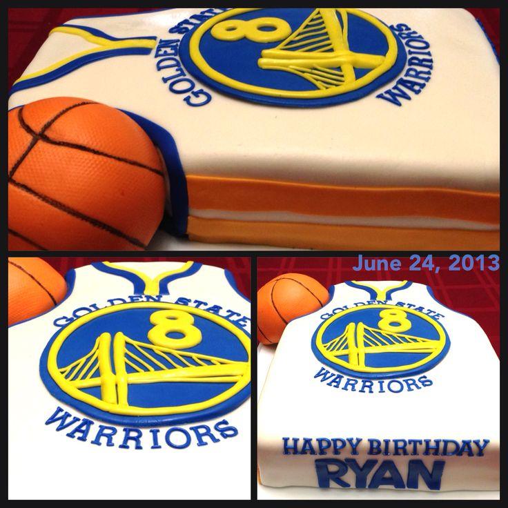 Golden State Warriors, basketball team birthday cake