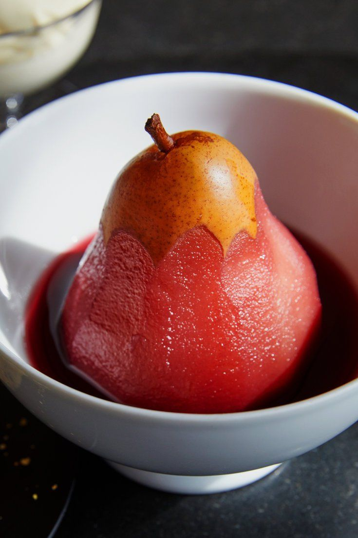 Spiced Red Wine Poached Pears Recipe Recipe Poached Pears Poached Pears In Red Wine Recipe Wine Poached Pears