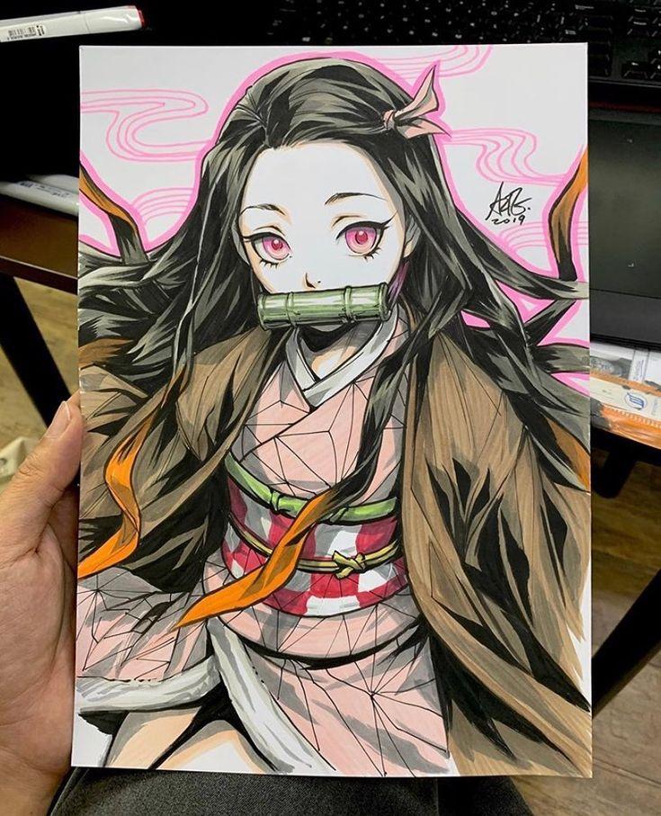 """Nezuko from No Yaiba""""👑 🎨Artis Anime drawing"""