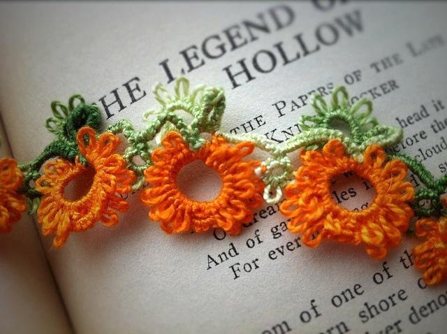 Tatted Pumpkins by c shultz, via Flickr