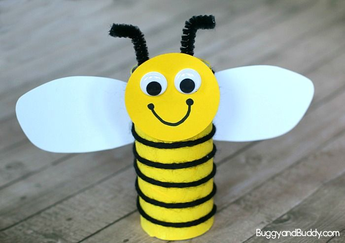 Turn an empty toilet paper roll (or other small cardboard tube) into a cute, yarn-wrapped bee! This easy craft provides lots of fine motor practice and makes a great addition to any unit on insects, bugs, or gardening. It's also perfect for Earth Day, spring or summer. Sign up to receive our FREE newsletter!  …