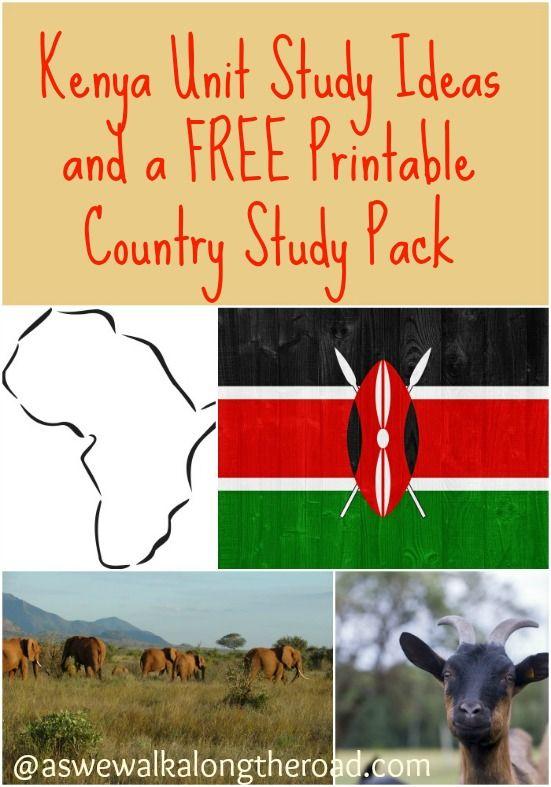 Unit study ideas for Kenya