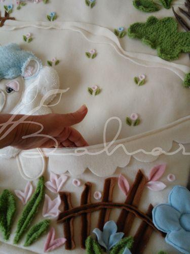 Polar bebek battaniyesi hemde cepli  Baharca tasarım  handmade
