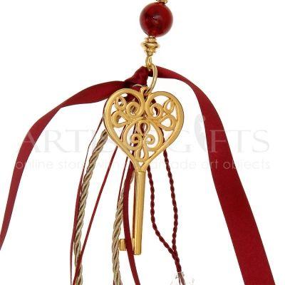 Γούρι Κλειδί Της Αγάπης Με Πέταλο & Σπίτι  Χειροποίητο μακρύ γούρι με πανέμορφο κλειδί διακοσμημένο πέταλο, σπίτι, φούντα, χάντρες,υφασμάτινα κορδόνια. Αποκτήστε το δικό σας online πατώντας στον παρακάτω σύνδεσμο ➜ http://goo.gl/ZCX6OB